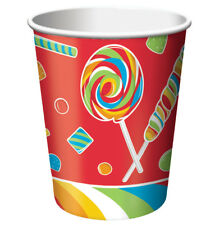 New Kids Sugar Buzz Candy Party Birthday Party 9 oz Paper Cup Lollipop 8 ct