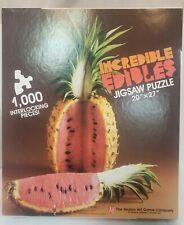 PineMelon #1007  Incredible Edibles Jigsaw Puzzle  Avalon Hill 1000PC 1986 NIB