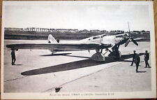 1930s French Aviation Postcard: 'Avion de record Trait d'Union, Dewoitine D 33'
