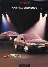 Toyota Carina E Crescendo Limited Edition 1993 UK Market Leaflet Sales Brochure