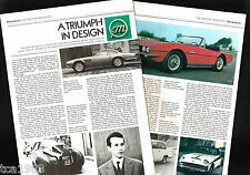 Michelotti Cars/Auto Article / Photos / Pictures: Triumph,