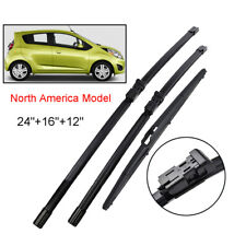 For Chevrolet Spark 13-15 North America Front Rear Windshield Wiper Blades Set