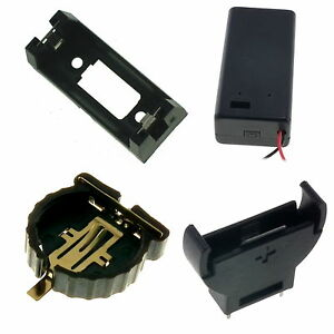 9V PP3, CR2032, CR1220, CR2450, CR123, CR123A, CR1616, C & D Size Battery Holder
