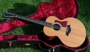 """Taylor 555-12 """"Golden Era"""" 1997 Natural, with pickup, Excellent Plus Cond"""