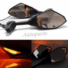 FRONT &BACK MOTORCYCLE LED TURN SIGNAL INDICATOR REARVIEW MIRRORS FOR SPORT BIKE