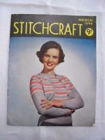 Vintage Sewing Magazine Stitchcraft Embroidery Pattern & Projects 1940s