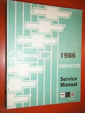 1986 CHEVROLET CHEVETTE ORIGINAL FACTORY SHOP MANUAL OEM SERVICE