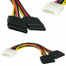 IDE 4Pin Male Molex to 2x SATA Female ATA Y Splitter HDD Power Adapter Cable DVD