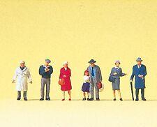 Preiser 79197 Spur N, Reisende am Bahnsteig, 7 Figuren, handbemalt, Neu