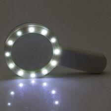 30X High Power Handheld Magnifying Glass Led Light Jumbo Illuminated Magnifier K