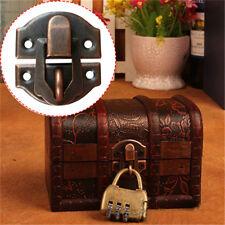 1 Pcs Vintage Wooden Box Hasp Latch Chest Lock Antique Decor Jewelry Buckle