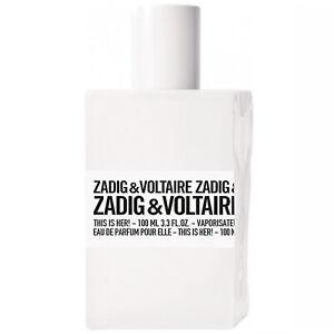 Zadig & Voltaire THIS IS HER! Eau de Parfum 100ml *** GENUINE ***