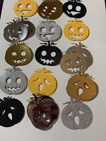 30 X Pumpkin Die Cuts Card Making Topper embellishments Scrapbook Halloween