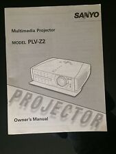 Sanyo z2 guides for Projector , multilingual