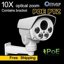 2MP Sony COMS Mini PTZ IP Camera 10x optical Zoom POE IR Outdoor IP66 HD TF Slot