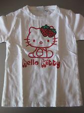 Hello Kitty Shirt T-Shirt Gr.122/128, 7 Jahre, Baumwolle Kurzarm Weiß/Rot schön