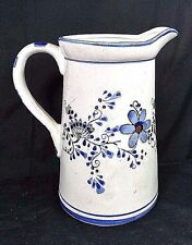 VINTAGE Creamer /  SMALL PITCHER blue floral Design Ceramic