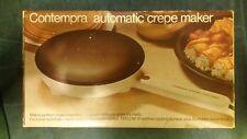 Vintage Contempra C-100 Electric Automatic Crepe Maker Kitchen Appliance