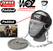 HEAD HARNESS NECK STRENGTH HEAD STRAP WEIGHT LIFTING FITNESS EXERCISE CHAIN BELT