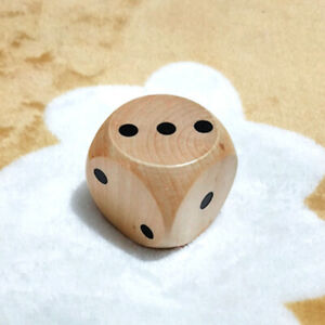 1x Fancy Large Wooden Dice Game Dice Sieve Toy Bar Club Party Board Game 5cm N.