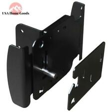 Black Durable Two-way Fence Gate Latch Reversible Push Pull Open Fasteners