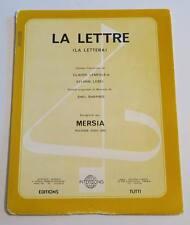 Partition vintage sheet music MERSIA : La Lettre * 70's Shel Shapiro
