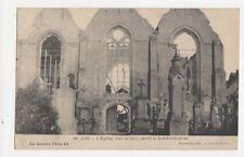 Loo L'Eglise Apres Bombardement  La Guerre 1914-16 Vintage WW1 Postcard 387a