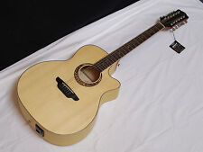 LUNA Muse Grand Auditorium Cutaway acoustic electric 12-String GUITAR - B-Band