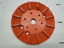 "Diamond Products 8"" Heavy Duty Orange Floor Grinding Head Concrete Grinder Floor"