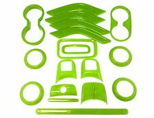 18x Interior Dashboard Parts Accessories Decoration Trim For Jeep Wrangler Green