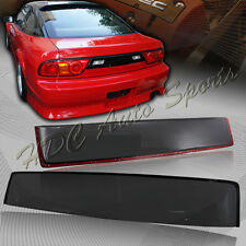For Nissan 240SX S13 Hatch Black Tint Transparent ABS Rear Roof Visor Spoiler