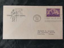 US FDC #898 Coronado Expedition; Cachet; Albuquerque, NM; Cat Val $9.50