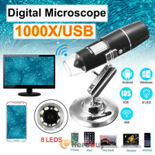 Digital 8LED 20X-1000X HD 1080P WiFi Microscope Magnifier for Android ios Phone