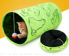 Pet Cat Tunnel Play Toy Foldable Exercise I-shape Tube small dog kitten Toys