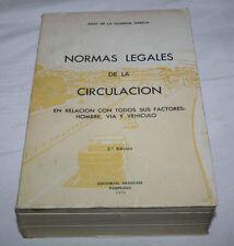 NORMAS LEGALES DE LA CIRCULACION, JULIO DE LA GUARDIA, ARANZADI PAMPLONA 1974