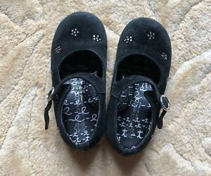 Simonetta Baby Girl Made In Italy Mary Jane Suede Shoes Size 6.5