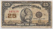 Canada 25 cents 1923 McCavour/Saunders