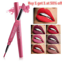 Double Head Long Lasting Waterproof Pencil Lipstick Pen Matte Lip Liner Cosmetic