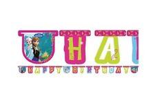 GHIRLANDA FESTONE HAPPY BIRTHDAY COMPLEANNO BAMBINA FROZEN ADDOBBI FESTA