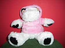 "Kellytoy plush Cow with pink hoodie ""ERES ESPECIAL"" In Spanish"