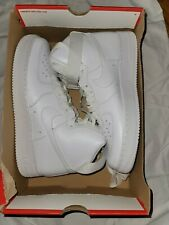 NIKE AIR FORCE 1 '07 HIGH TRIPLE WHITE 315121 115 sizes 10 *BRAND NEW*