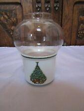 Vintage Noel Porcelain and Glass Christmas  00004000 Holiday Candle Holder- Usa ~4.25� H