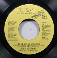 Soul Promo 45 Maurice Starr - Come See Me Sometime / Come See Me Sometime On Rca
