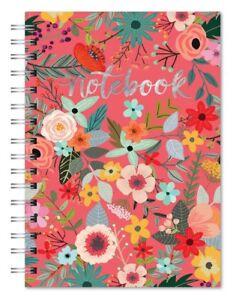Studio Oh! Secret Garden spiral notebook with silver foiling  #82471