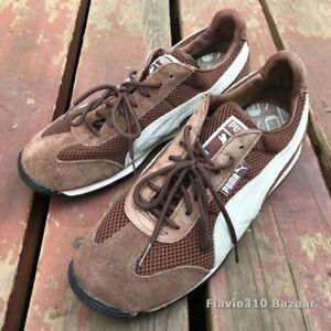 Vintage PUMA Brown & Blue Size 9.5 US Men's Shoes