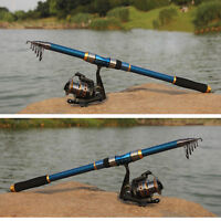 Professional Carbon Fiber Telescope Fishing Rod Travel Sea Spinning Pole 2.1m