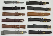 12x WHOLESALE genuine leather watch straps  lot black brown tan clearance strap