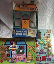 Cardboard 3-4 Years Vintage Puzzles