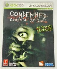 Condemned: Criminal Origins (Prima Official Game Strategy Guide) Xbox 360 NEW EX