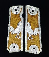 1911 GUN GRIPS ROOSTERS CACHAS GALLO